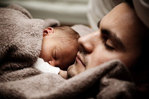 Man and Baby Sleeping