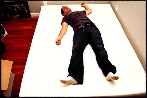 Man on Memory Foam Mattress
