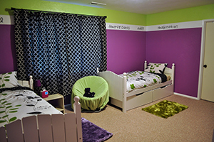 A well decorated kids bedroom