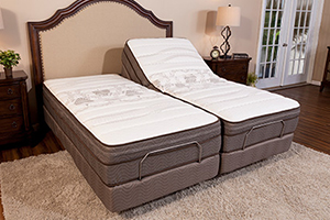 Two differnt view of adjustable bed