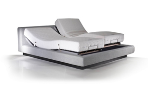 Illustration of adjustable bed