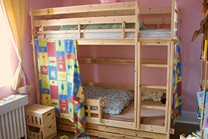 A children room with bunk beds