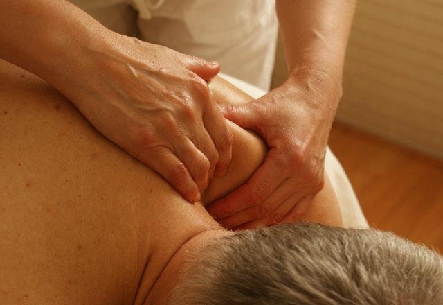 A man getting massage